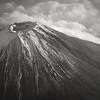 Mount Fuji aus dem Flugzeug