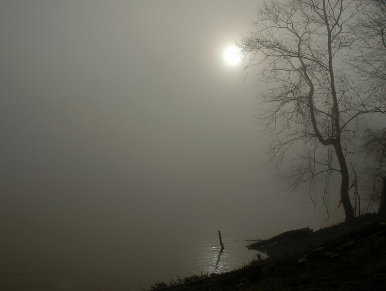 Moody Morning Anderson Ferry Landing