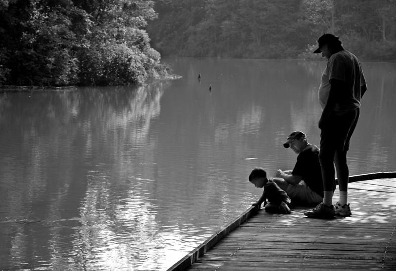 Three Generations - Powel Crosley Lake Wooden Walkway