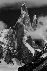 Cerro Torre towers in Patagonia