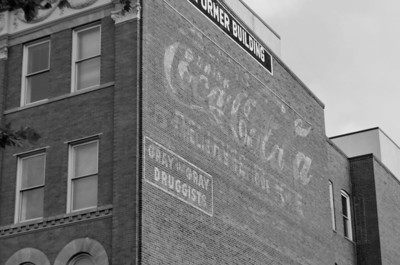 Coca Cola ad on the side of a building on U Street