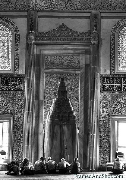 Inside the Mosque in Ankara