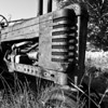 """<h4>Tractor<br> A change from the old cars, here is an old tractor.  The first engine-powered farm tractors used steam and were introduced in 1868. Henry Ford produced his first experimental gasoline powered tractor in 1907. it was referred to as an """"automobile plow"""" and the name tractor was not used."""