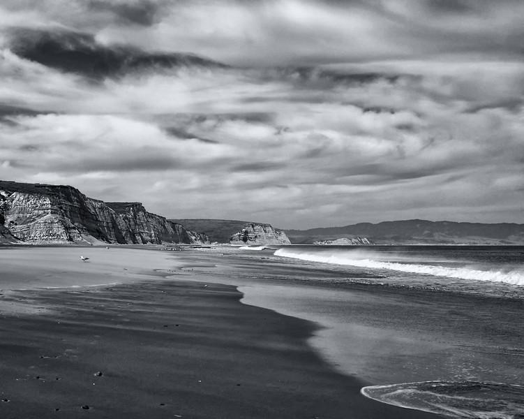 Sea cliffs. Drakes Beach, California Coast. ref: 518bd864-1db1-4b12-8f2b-539fa34d8c98