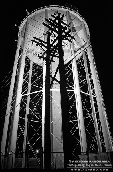 Water Tower and Power Poles
