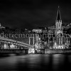 St George church at Lyon in B/W ...