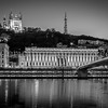 Reflection on the Rhône in B/W