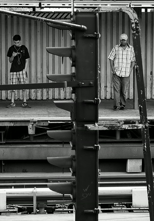 Waiting for the Subway train NYC