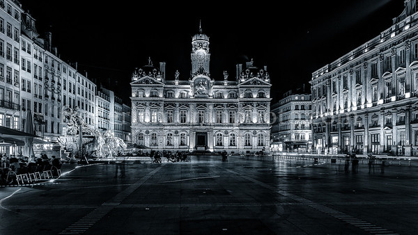 City Hall of Lyon in B/W