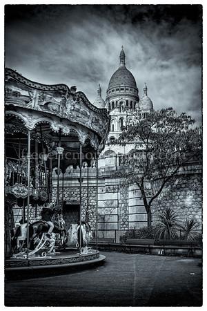 Basilica of Sacré Coeur at Montmartre in Paris