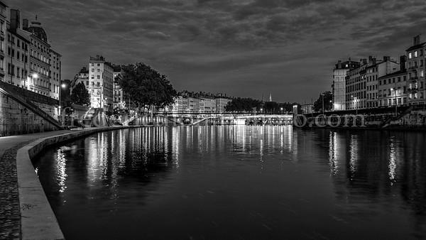 Saône in the city ....