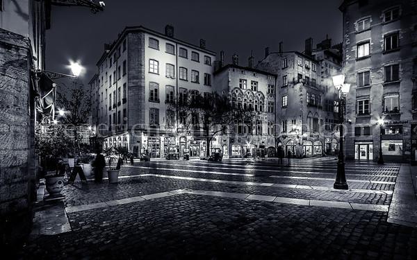 Vieux Lyon in B/W