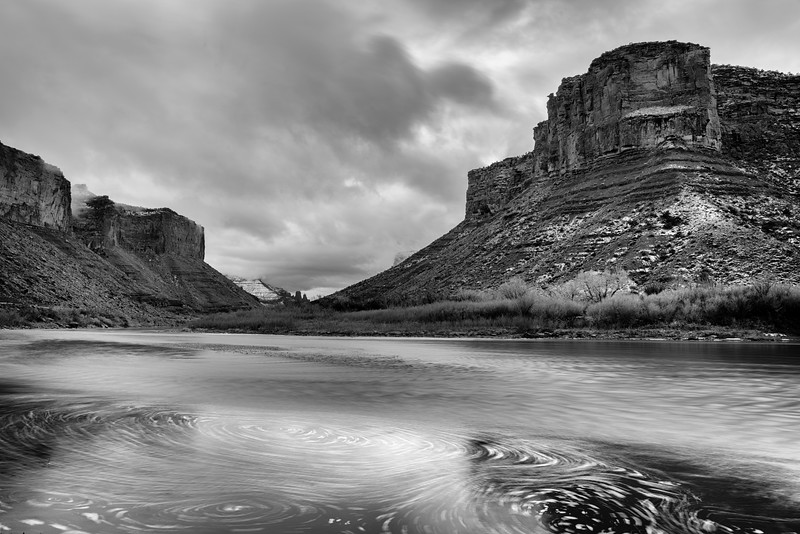 Stormy day-after-Christmas 2018 along the river road to Moab.