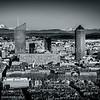 Les tours de Lyon et le Mont-Blanc en N/B  ...