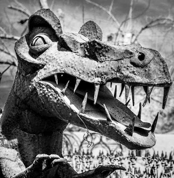 Metal Dinosaur Sculpture