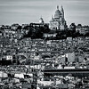 Montmartre Basilica at Paris in B/W