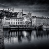 Reflections on the Saône in B/W