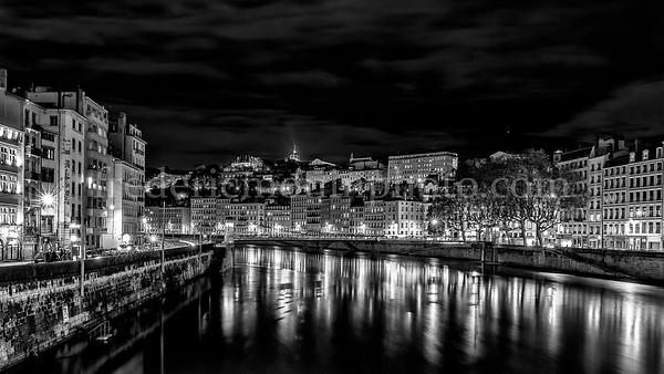Saône by night