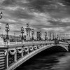 Alexandre III bridge in B/W