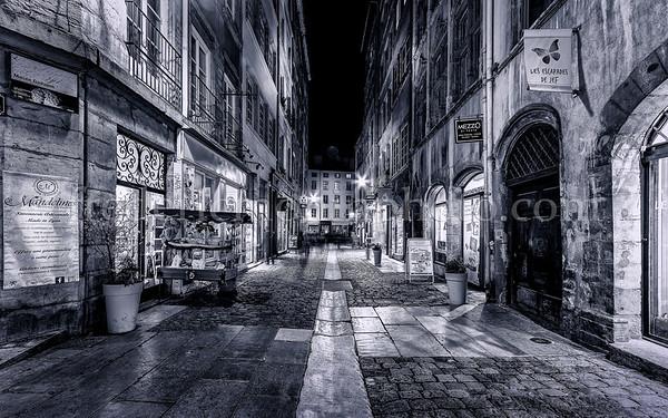Rue St-Jean dans  le Vieux Lyon
