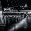Lyon by night in B/W ...