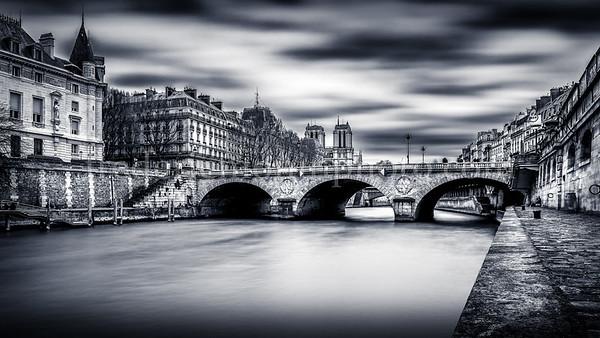 The Seine at Paris in B/W ...