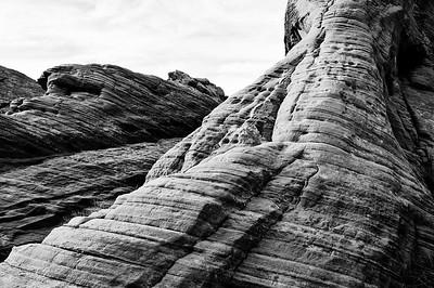 Valley of Fire Rocks B&W- Overton, NV