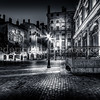 Square of the exchange at Lyon in B/W