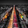 The great avenue in Paris ...