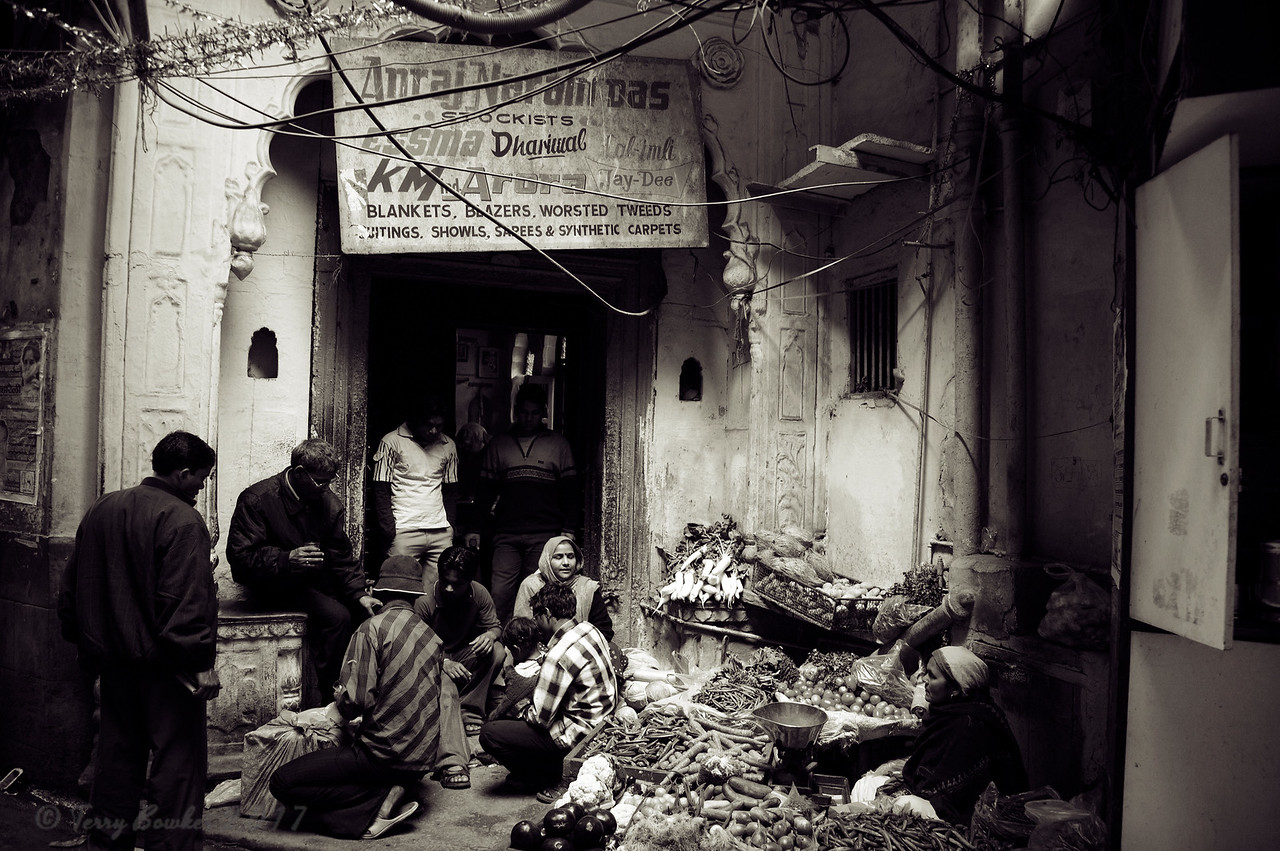 Vegetable market, Kinari Bazar, Old Delhi, India