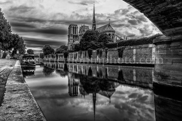 Reflection on the Cathedral Notre Dame of Paris