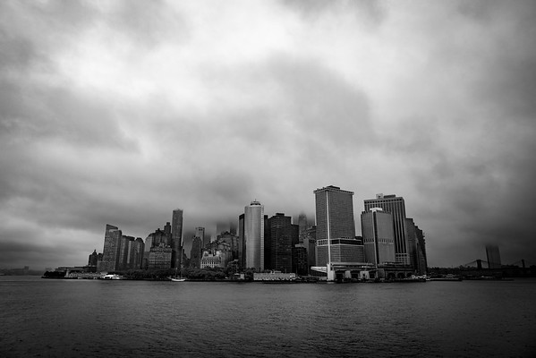 The Big Apple as seen from the Staten Island ferry.