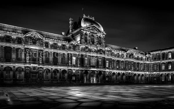 Cour carrée of the Louvre at Paris
