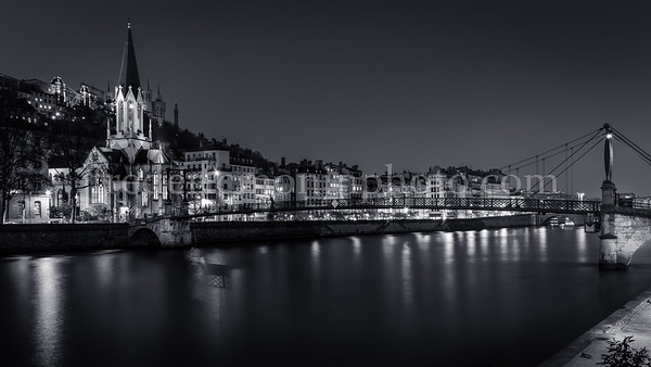 St-Georges district at Lyon in B/W ...