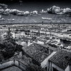 Lyon from the terrace of the Antiquaille in B/W