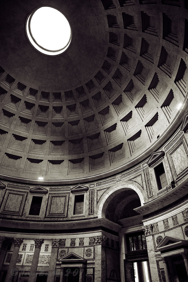 Interior of the Pantheon, Rome, Lazio, Italy