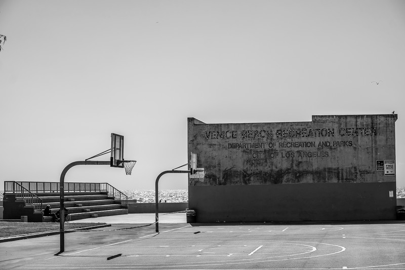 Venice Beach Rec Center 2, B&W