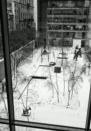 Sculpture Garden At MOMA in Winter
