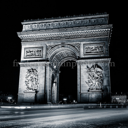 Arc de Triomphe at Paris in B/W