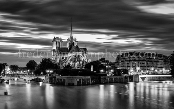 Notre Dame of Paris in B/W