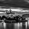 Notre Dame of Paris in B/W