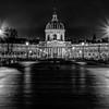 """Arts bridge and """"Institut de France"""" in Paris"""
