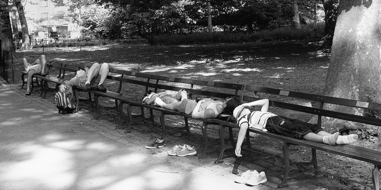 Tired Tourists Central Park NYC