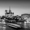 Blue Hour on Notre Dame ... in B/W