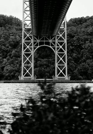 George Washington Bridge near the Little Red Lighthouse Washington Heights NYC
