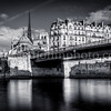 Walking along the Seine at Paris