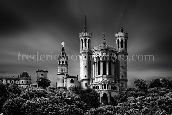 Basilica of Fourvière at LYON in B/W