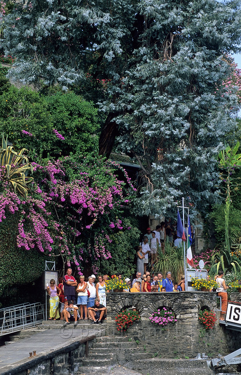 [ITALY.PIEMONTE 01706]  'Isola Madre landing stage.'  The landing stage of Isola Madre symbolises what this island is about: a beautiful 'English' style exotical garden. Photo Paul Smit.