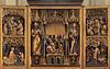 Gothic winged altar in Predigerkirche in Erfurt.