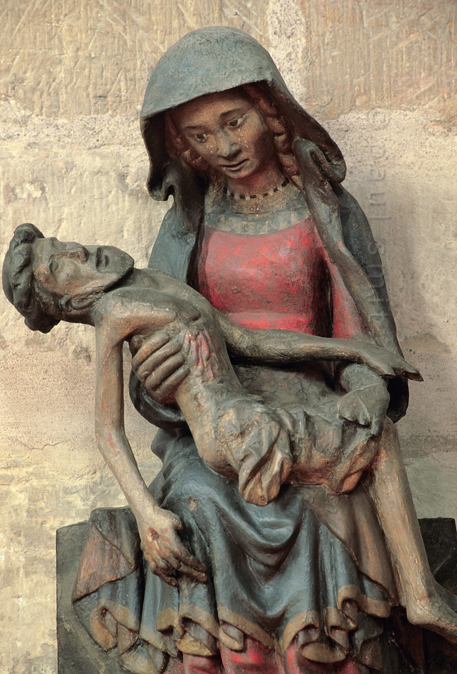 Pietà in cathedral of Erfurt.